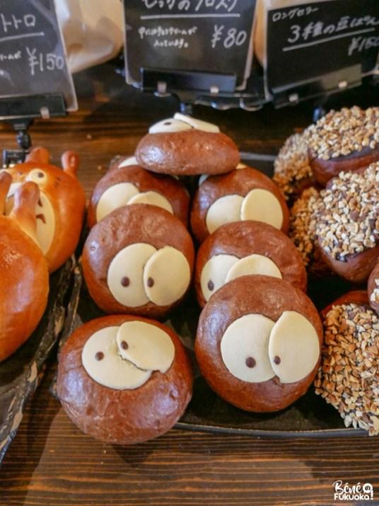 Pains Totoro, boulangerie Pan no Mocca, ville d'Ukiha, préfecture de Fukuoka