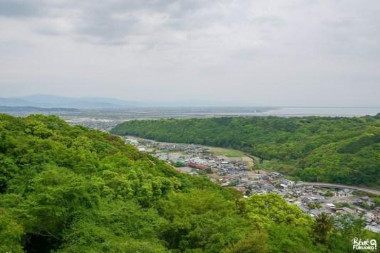 Vue sur la mer Ariake et la préfecture de Saga depuis le sanctuaire Yûtoku Inari