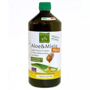 Succo di Aloe e Miele con Vitamina C ed E