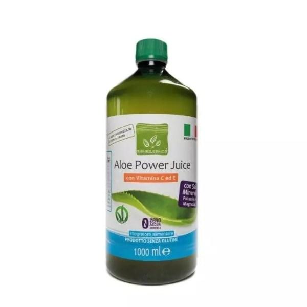 Aloe Power Juice: Succo e Polpa di Aloe Vera 96% + Vitamine C e E + Potassio e Magnesio