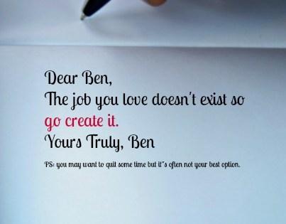 create the job you love