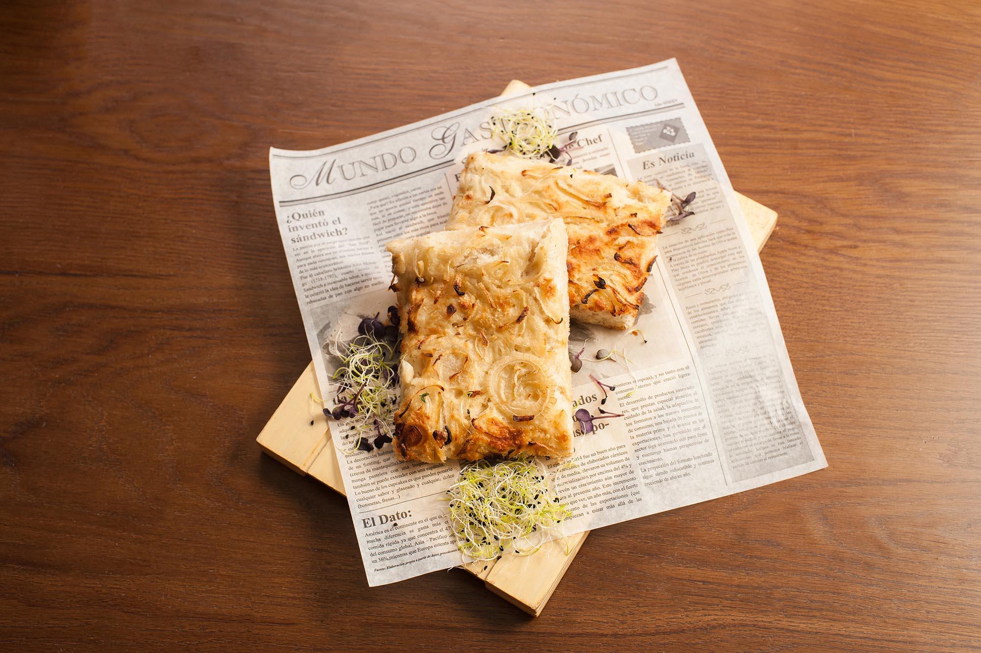 Focaccia de cebolla elaborada por Benfood