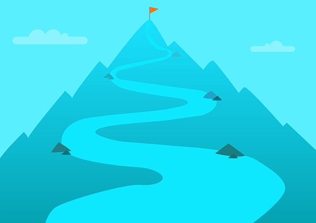 chemin vers le haut de la montagne