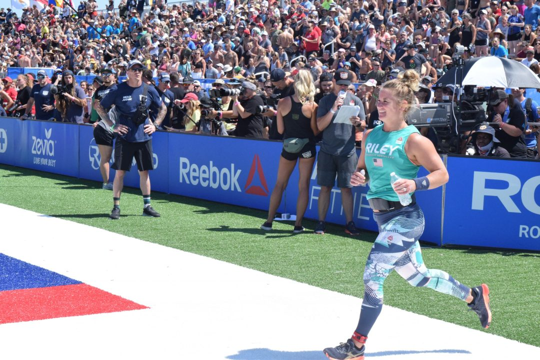 Mekenzie Riley enters the stadium on the first day of the 2019 CrossFit Games