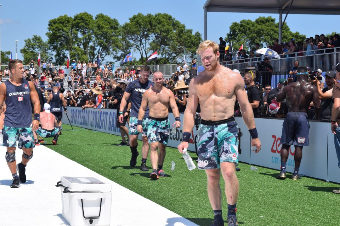 Patrick Vellner leaves the stadium after an event at the 2019 CrossFit Games