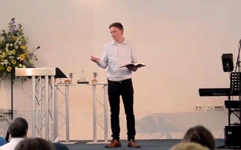 Ben Grist preaching at the Lantern Church