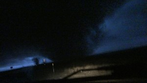 Tornado crosses US60 right in front of us