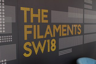 The Filaments SW18 lightbox wall.
