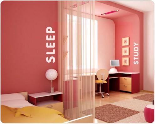 Interior design of teens room 9