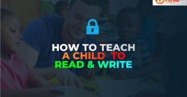 Teaching a child how to read and write