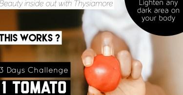 How to Lighten Dark Body Areas using Tomatoe