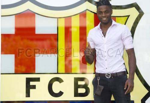 seance photos alexandre song fc barcelone