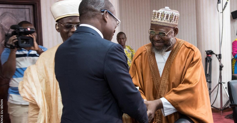 Le président Patrice Talon lors de la rencontre avec la délégation de l'Union islamique du Bénin | Photo : PRESIDENCE DU BENIN