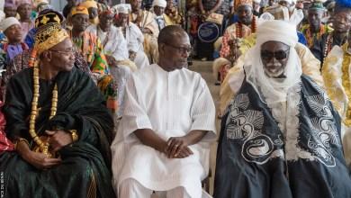 Photo of Patrice Talon reçoit les bénédictions des chefs traditionnels qui soumettent aussi leurs doléances au chef de l'Etat