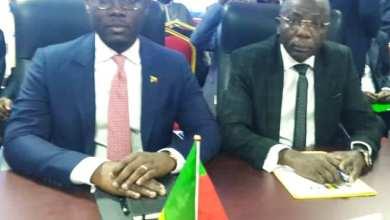 Photo of Mahougnon Kakpo etModeste Kérékou conduisent la délégation béninoise à la 9ème conférence des ministres de l'Emploi et de la Formation professionnelle à Ouagadougou