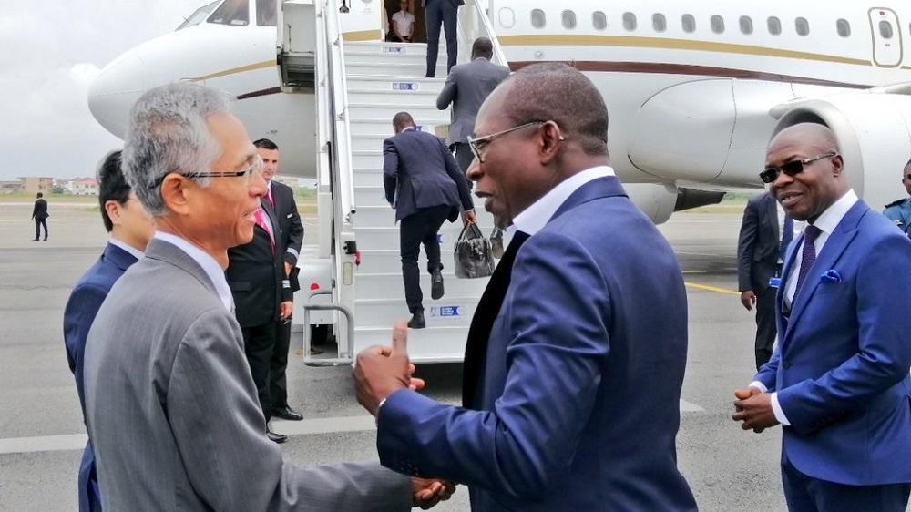Patrice Talon et l'ambassadeur Japon 1