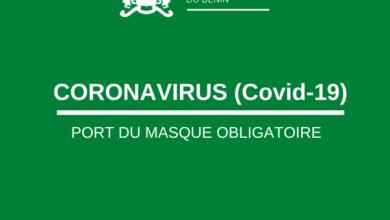 Photo of CORONAVIRUS – Port du masque obligatoire au Bénin