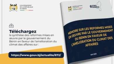 Photo of DOING BUSINESS – Découvrez la synthèse des réformes mises en œuvre par le gouvernement pour l'amélioration du climat des affaires au Bénin
