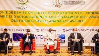 Photo of Appui au renforcement des acteurs du secteur privé : 29 entreprises reçoivent leurs certificats de conformité sanitaire et autorisation de mise sur le marché des produits
