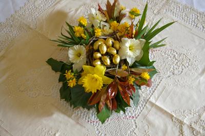 Art Floral Ides De Centre De Table Pour Table De Paques