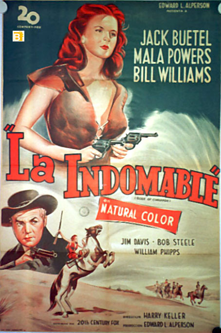 LA INDOMABLE MOVIE POSTER ROSE OF CIMARRON MOVIE POSTER