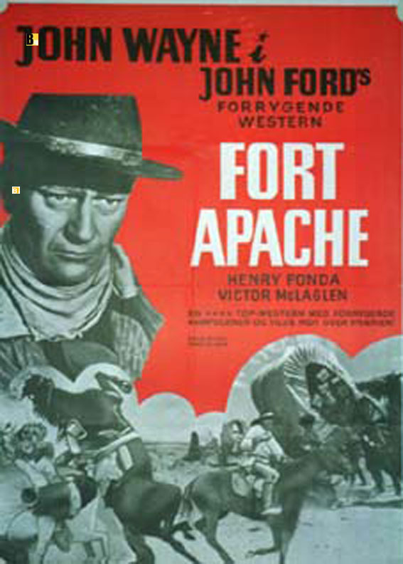 FORT APACHE MOVIE POSTER FORT APACHE MOVIE POSTER