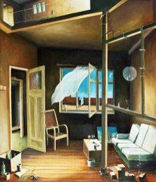 »Interieur«, Benjamin Kerwien, Öl auf Holz, 60 × 70 cm, seit 2011
