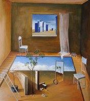 »Serie 1, Teil A«, Benjamin Kerwien, Öl auf Holz, 32 x 35 cm, 2013