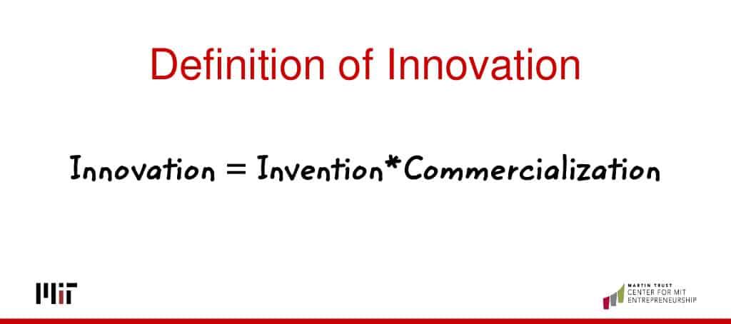 Définition de l'innovation, l'invention commercialement viable