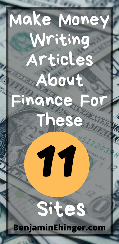 Make Money Writing Articles About Finance
