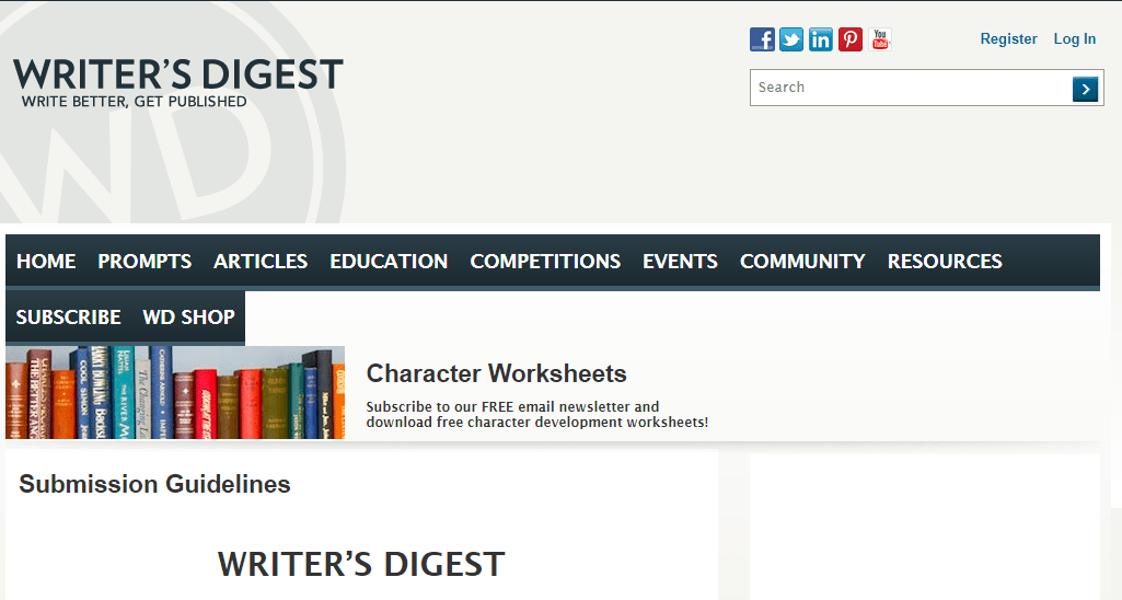 Write About Writing with Writer's Digest