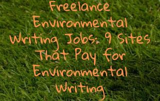 Freelance Environmental Writing Jobs