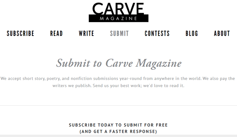 Write For Carve Magazine