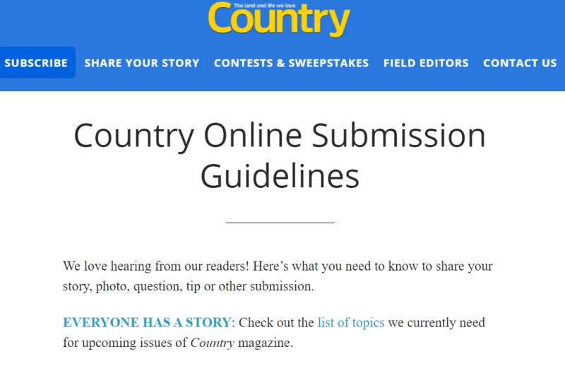 Write For Country