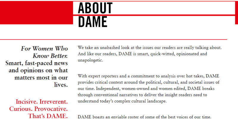 Write For Dame