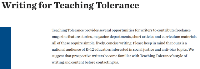 Write For Teacher Tolerance