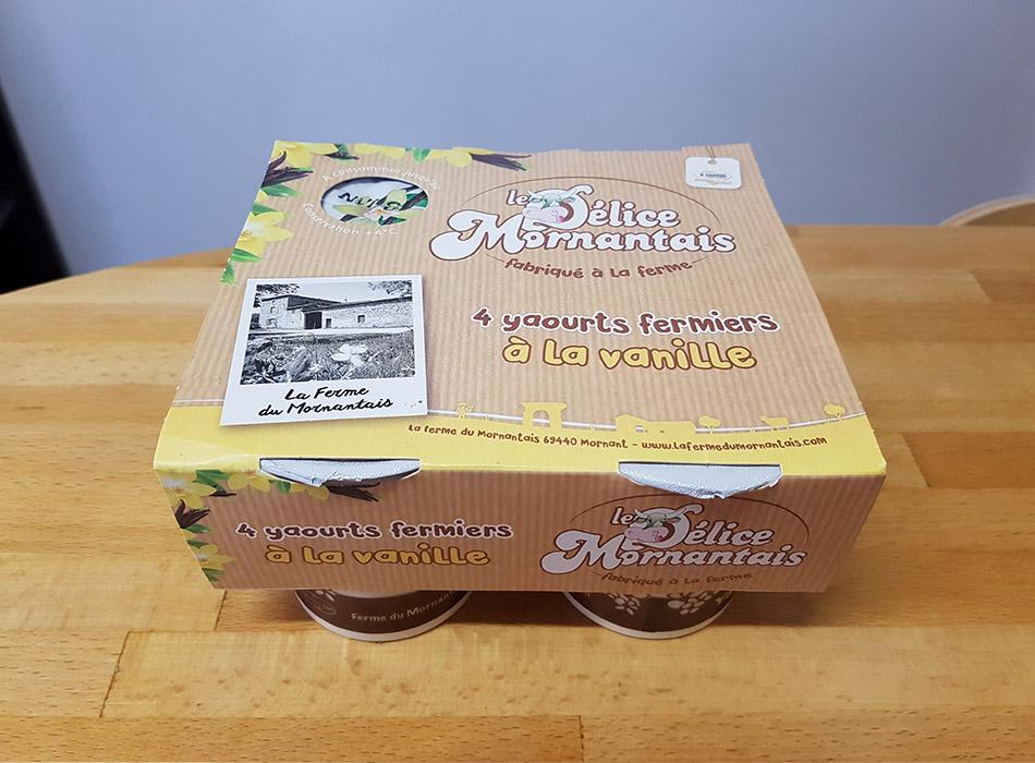 Packaging yaourt Vanille   Benjamin PIEGAY, graphiste à Lyon et dans les Monts du Lyonnais