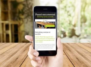 Site mobile Passé Recomposé | Benjamin PIEGAY, graphiste à Lyon et dans les Monts du Lyonnais