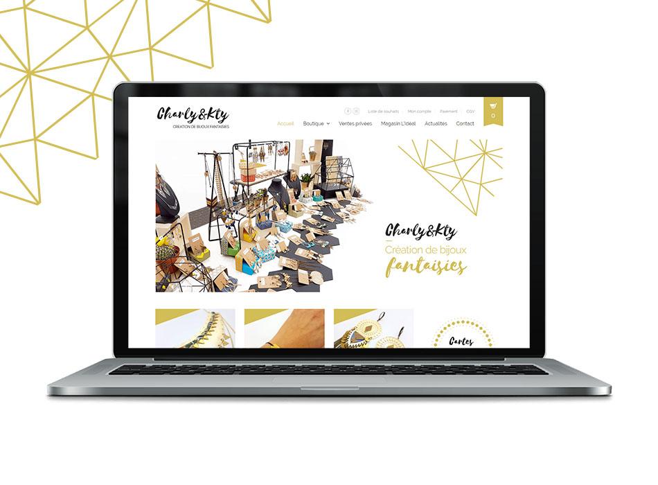Site internet Charly & Kty, création de bijoux fantaissies dans les Monts du Lyonnais