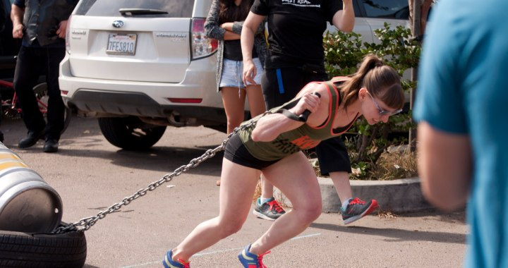 woman competing in strongman competition