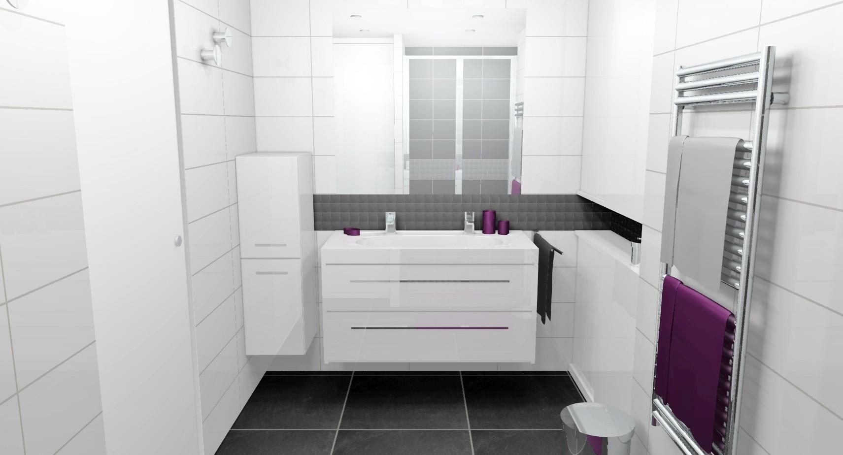 amnager une salle de bain de 6m2 amenagement salle de bain m petite salle de bain hyper bien. Black Bedroom Furniture Sets. Home Design Ideas