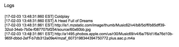 Detail iTunes api