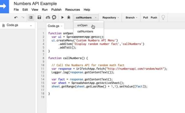 Tambahkan menu skrip aplikasi khusus
