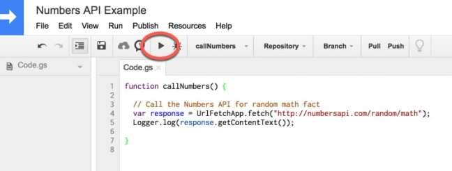 Jalankan tombol Aplikasi Script