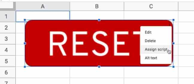 Skrip penetapan tombol Google Sheets