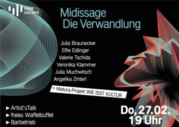 Event Flyer for the Freie Galerie