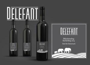 Wine Label and Corporate Design (Mock-Up) for Delefant