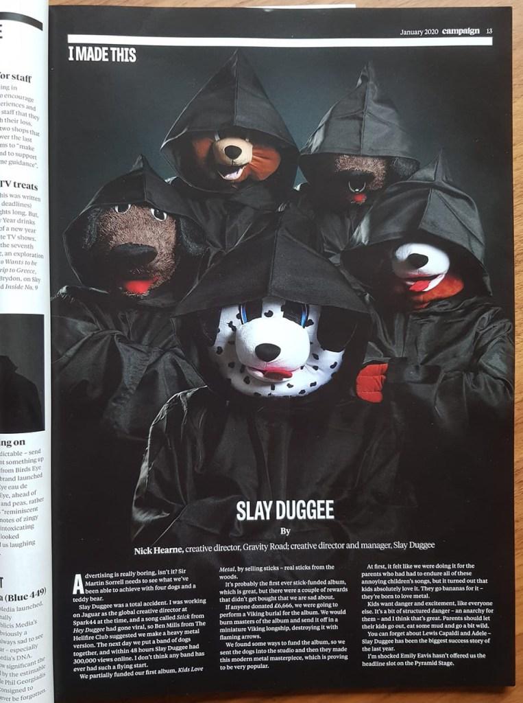 Slay Duggee Campaign Magazine