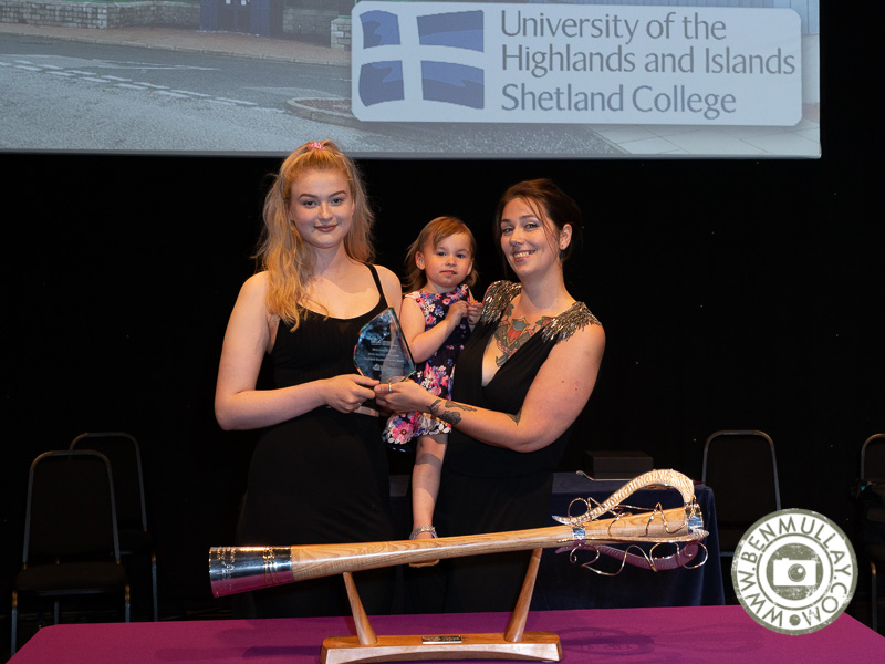 Prize winners from Shetland Graduation Ceremony 2019 held at Mareel, Lerwick.