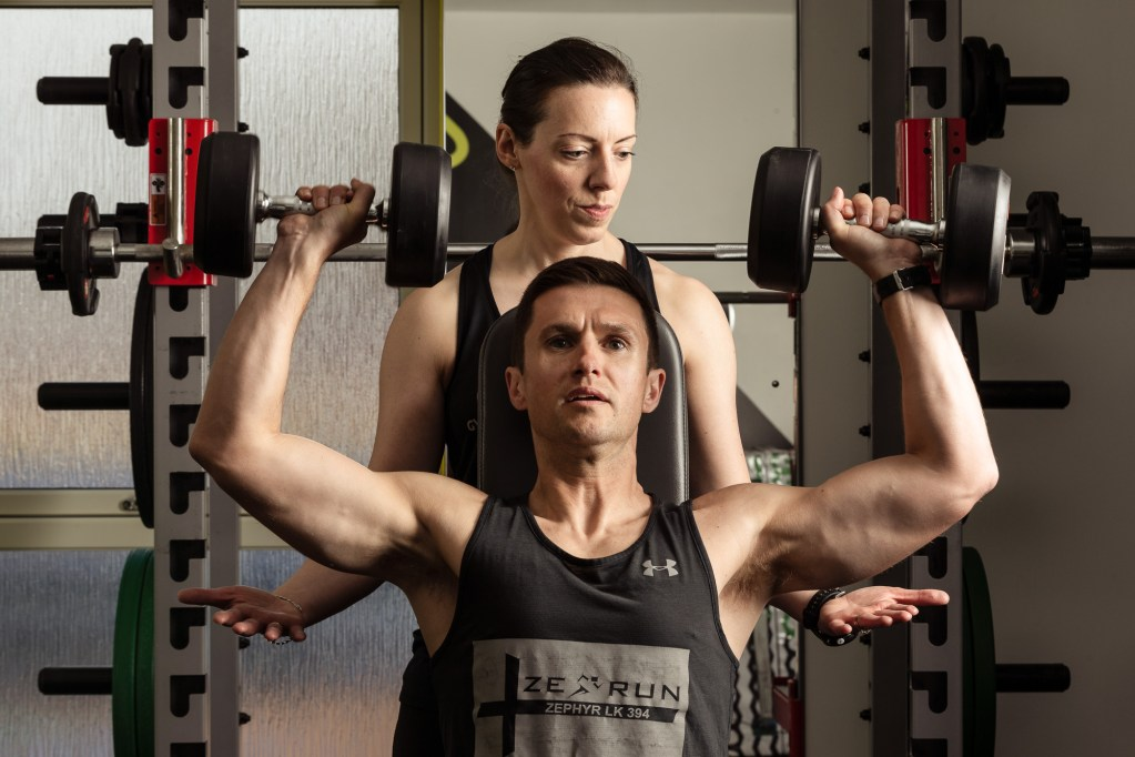 Personal trainers Russell & Linda Gair of Gym Gym - photo by Ben Mullay
